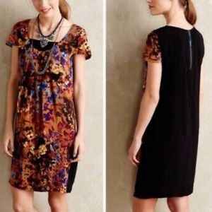 Maeve by Anthropologie Motif Pintura Silk Dress